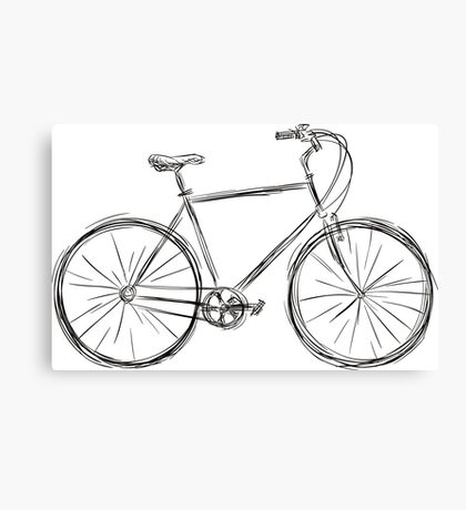 Simple bike2 Canvas Print