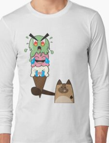 Kitty-Scream Long Sleeve T-Shirt