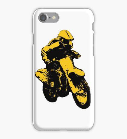 Enduro gelb schwarz iPhone Case/Skin