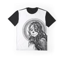 Day of the Dead Mandala Girl Graphic T-Shirt