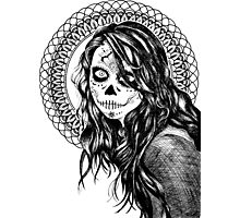 Day of the Dead Mandala Girl Photographic Print