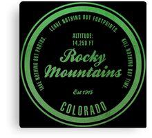 Rocky Mountains National Park, Colorado Canvas Print