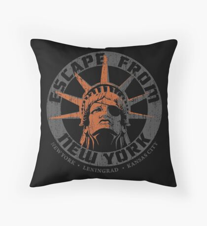 Escape from New York Snake Plissken Throw Pillow