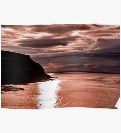 North Sea Sunset Poster
