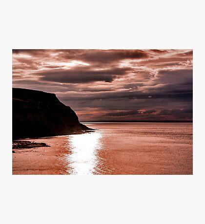 North Sea Sunset Photographic Print