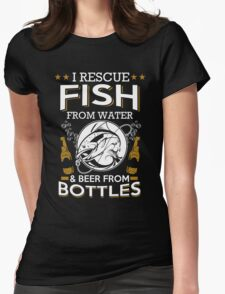 Beer - I Rescue Fish Womens Fitted T-Shirt