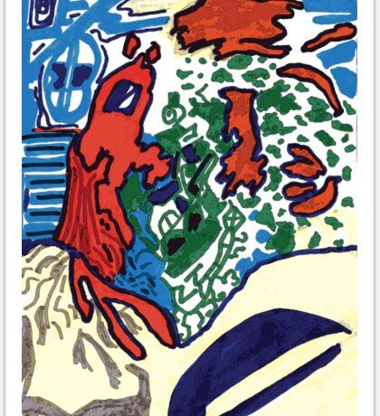 RED PuZZLE Sticker