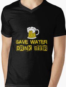 Beer - Save Water Drink Beer Mens V-Neck T-Shirt