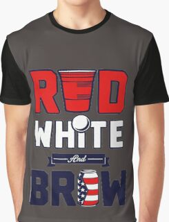 RED-WHITE-BREW Graphic T-Shirt