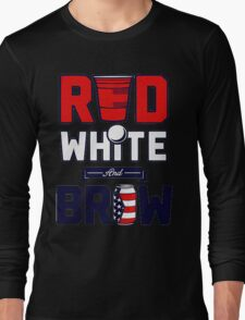 RED-WHITE-BREW Long Sleeve T-Shirt