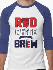RED-WHITE-BREW Men's Baseball ¾ T-Shirt