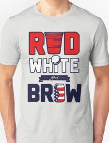 RED-WHITE-BREW Unisex T-Shirt