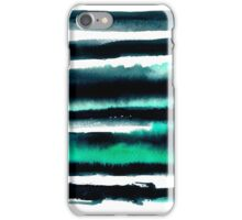 Black and green abstract watercolor painting iPhone Case/Skin