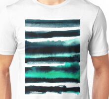 Black and green abstract watercolor painting Unisex T-Shirt