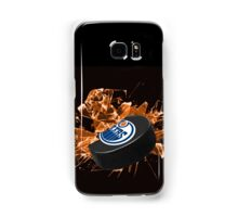 Edmonton Oilers puck Samsung Galaxy Case/Skin