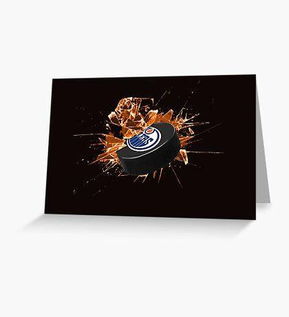 Edmonton Oilers puck Greeting Card