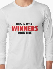 This is what Winners look like (Black Red) Long Sleeve T-Shirt