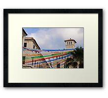 Fiesta in Mahon capital city, Menorca, Balearic islands, Spain Framed Print
