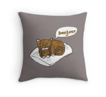 He's not really French, he just thinks he is! Throw Pillow
