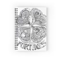 Lucky Fortune - Four Leaf Clover Spiral Notebook