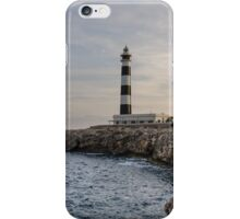 Cap d'Artrux lighthouse, Island of Menorca, Spain iPhone Case/Skin