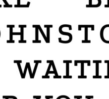 RUN - Ben Johnston Sticker