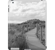 Wooden path crossing grass field in summer iPad Case/Skin