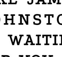 RUN - James Johnston Sticker