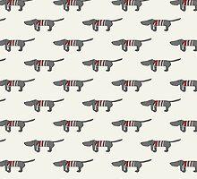 stripe - red by Sandy Mitchell