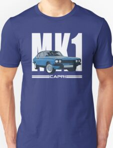 Blue Ford Capri MK1 Classic Car Unisex T-Shirt