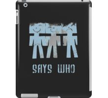 three men ...  iPad Case/Skin