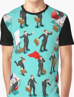Businessman Leader Isometric Graphic T-Shirt