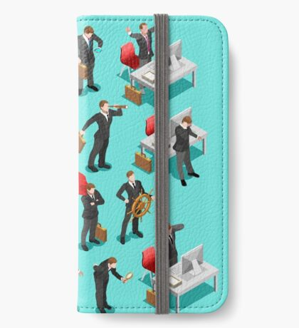 Businessman Leader Isometric iPhone Wallet/Case/Skin