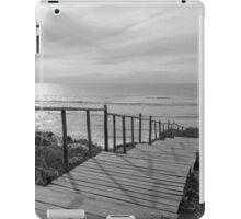 Wooden boardwalk to the beach iPad Case/Skin