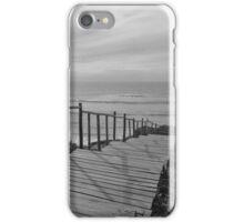 Wooden boardwalk to the beach iPhone Case/Skin