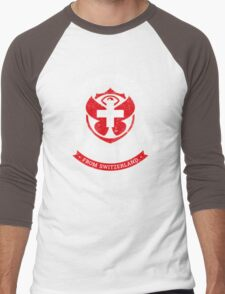 People of Tomorrowland Flags logo Badge -  Switzerland - Suisse - Schweiz - svizzera Men's Baseball ¾ T-Shirt