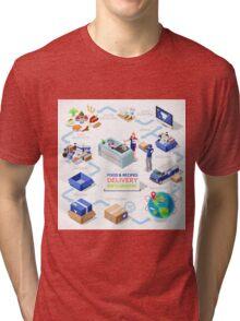 Food Recipes Delivery Concept Tri-blend T-Shirt
