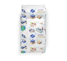 Food Recipes Delivery Concept Duvet Cover