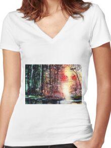 Daybreak 2 Women's Fitted V-Neck T-Shirt