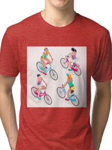 Teen Girl Cycling Tri-blend T-Shirt