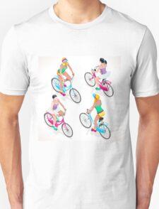 Teen Girl Cycling Unisex T-Shirt