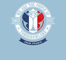 People of Tomorrowland Flags logo Badge - France - Français - French Unisex T-Shirt