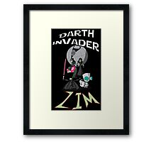 Darth InVader ZIM! Framed Print