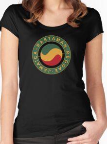 Rastaman Reggae Jamaica Women's Fitted Scoop T-Shirt