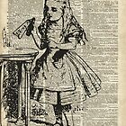 "Alice in The Wonderland ""Drink Me"" Vintage Dictionary Art by DictionaryArt"