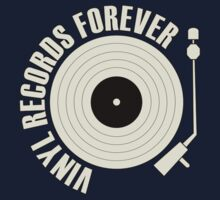 Vinyl Records (white) Kids Tee
