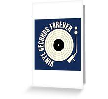 Vinyl Records (white) Greeting Card