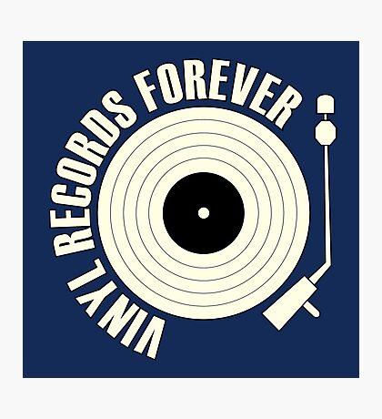 Vinyl Records (white) Photographic Print
