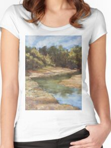 Lake Cathie - plein air Women's Fitted Scoop T-Shirt