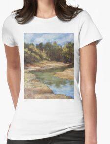 Lake Cathie - plein air Womens Fitted T-Shirt